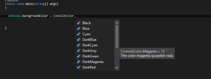 konsol-uygulamasi-renk-secenekleri